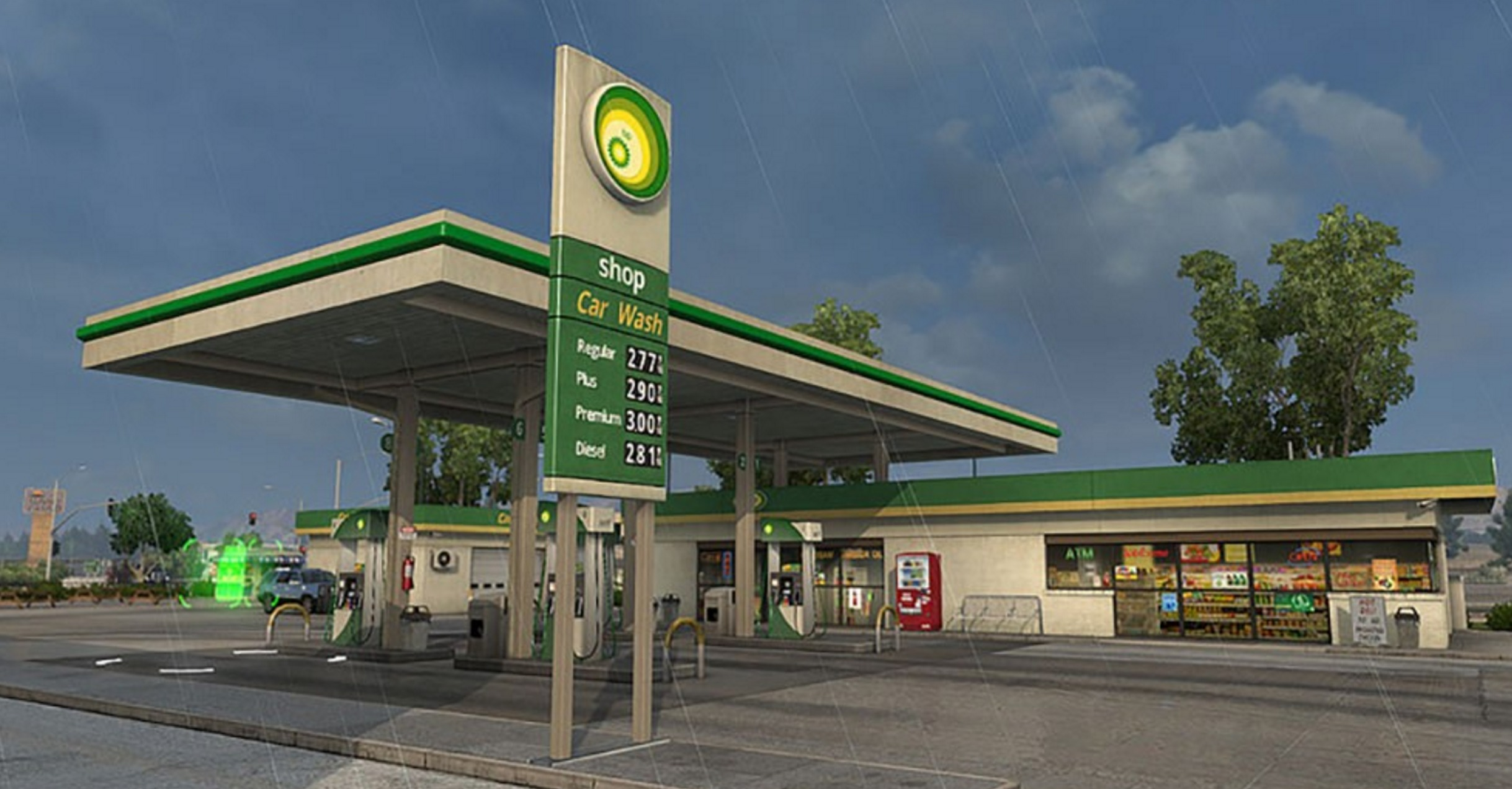 Real brands for Gas Station for ATS - ATS Mod | American