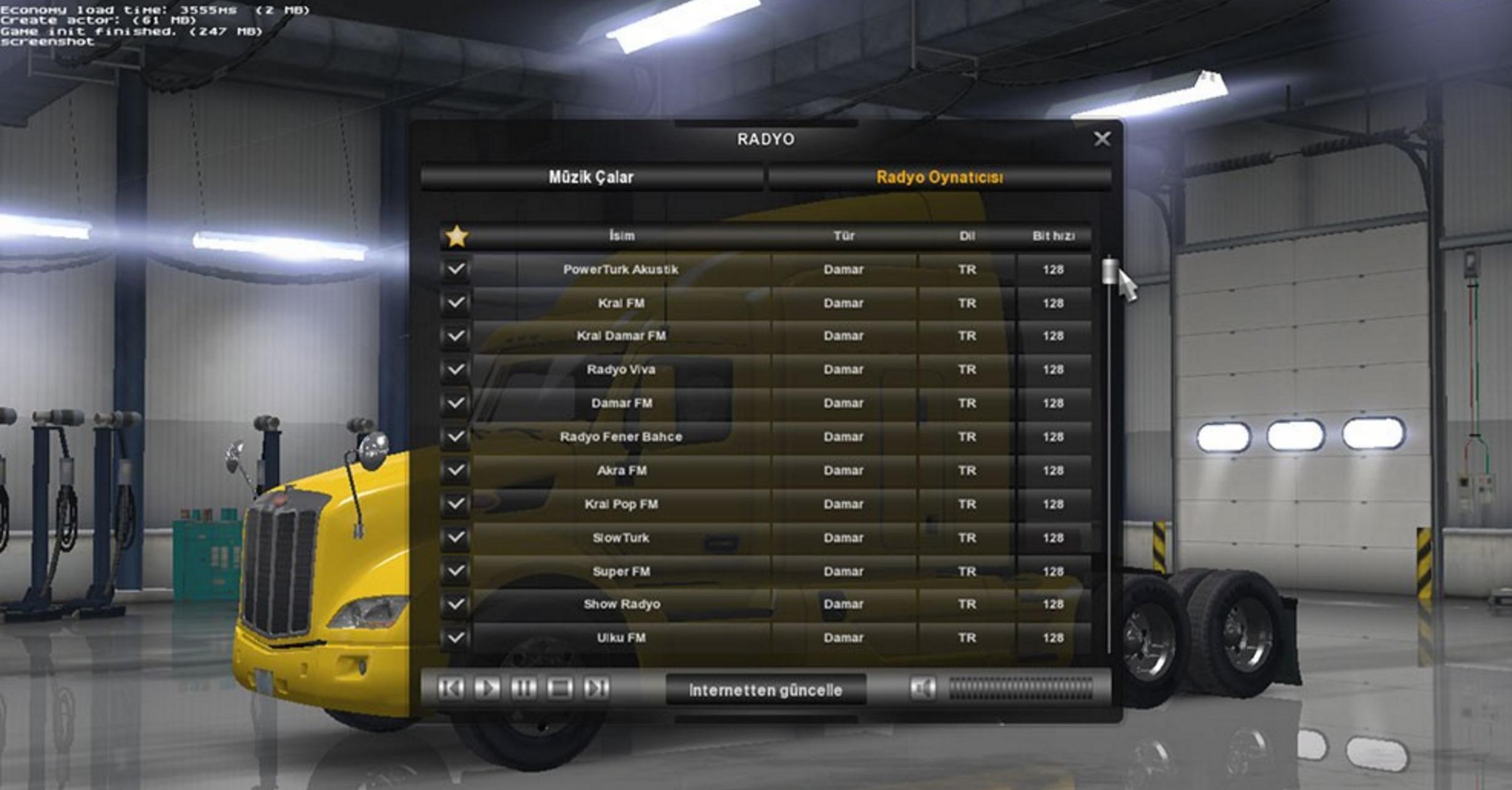 Turkish Radio Mod - ATS Mod | American Truck Simulator Mod