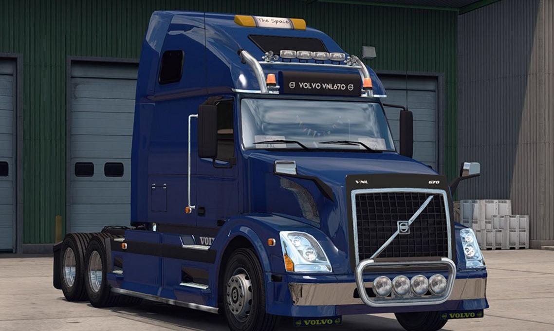 Volvo VNL 670 Truck v 1.1 - ATS Mod | American Truck Simulator Mod