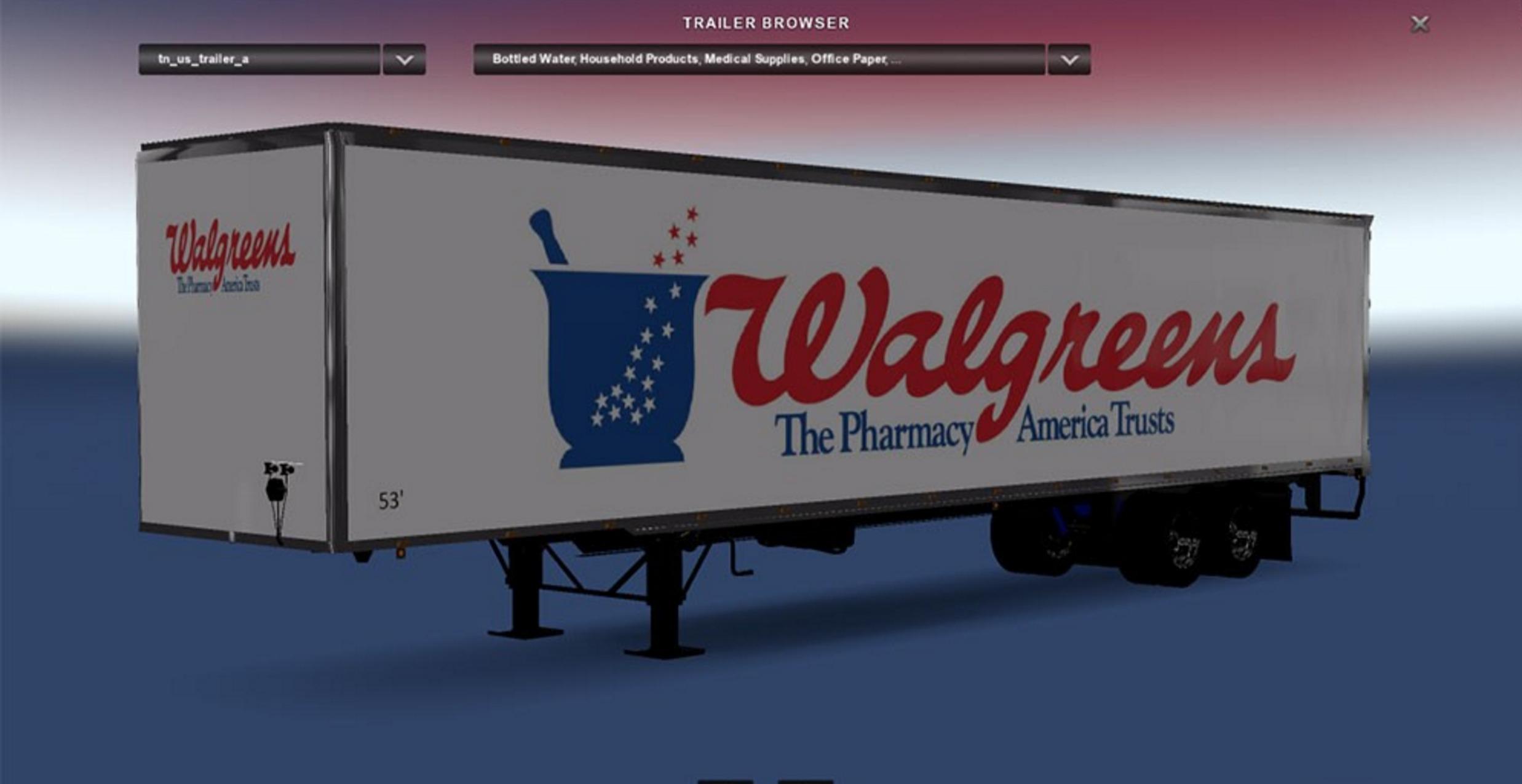 DC-Walgreens Trailer for ATS Mod - ATS Mod | American Truck