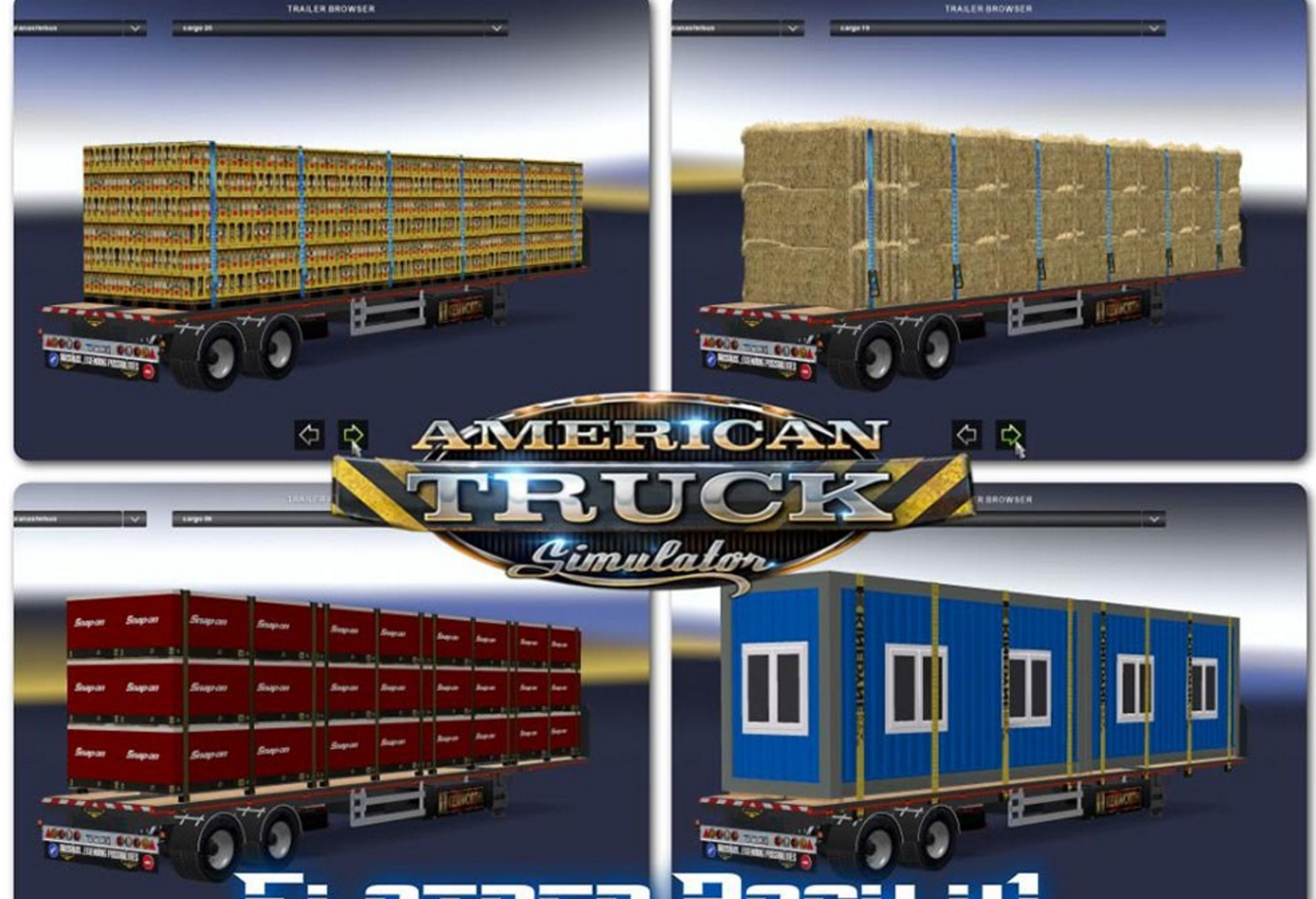 Flatbed Pack For Ats v1 mod - ATS Mod | American Truck