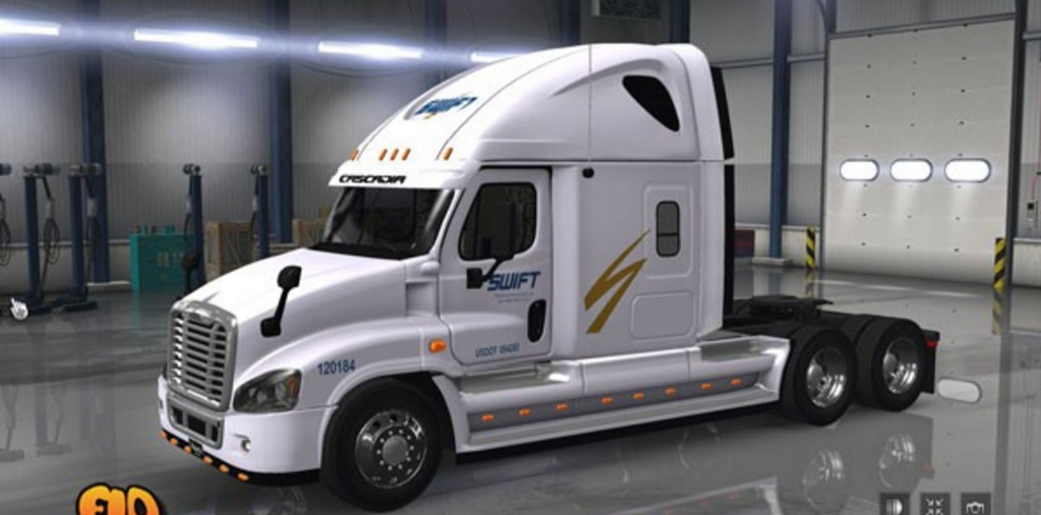 Freightliner Cascadia Swift Transportation Skin Mod Ats Fuse Box