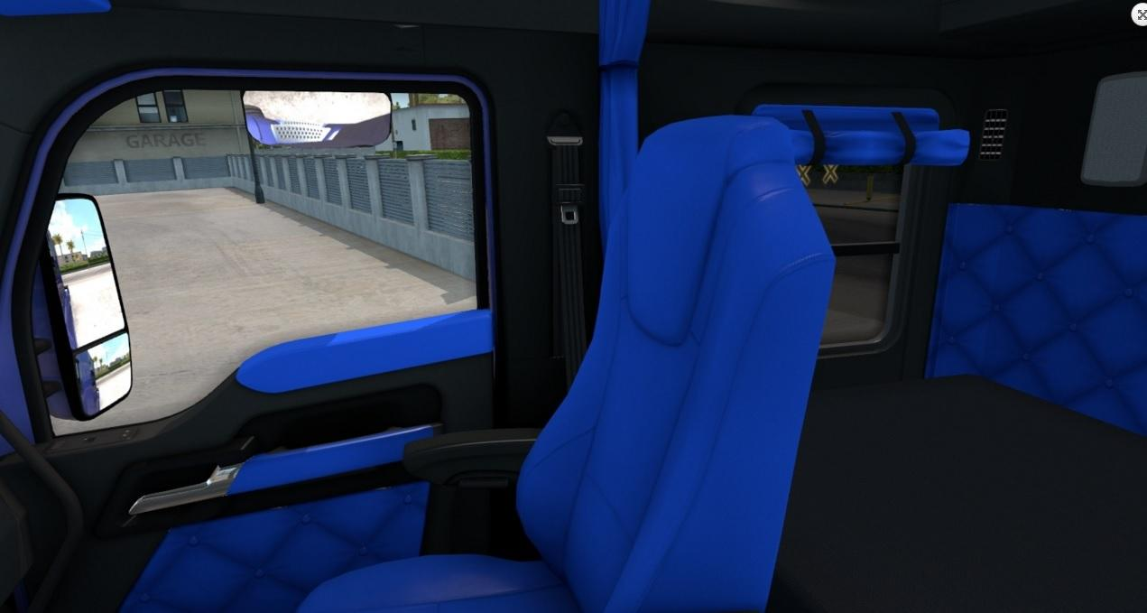 Kenworth T680 Bluey Interior For ATS