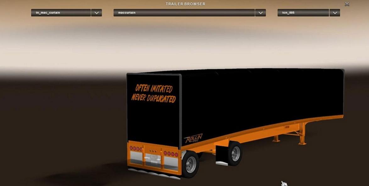 Mac Curtain Rollin Transport Trailer Skin - ATS Mod | American Truck