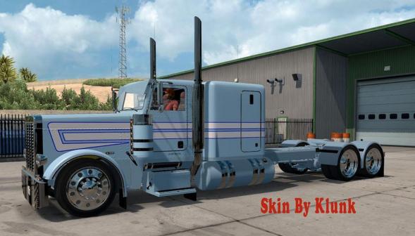 Peterbilt 389 Light Blue White Skin Mod Ats Mod