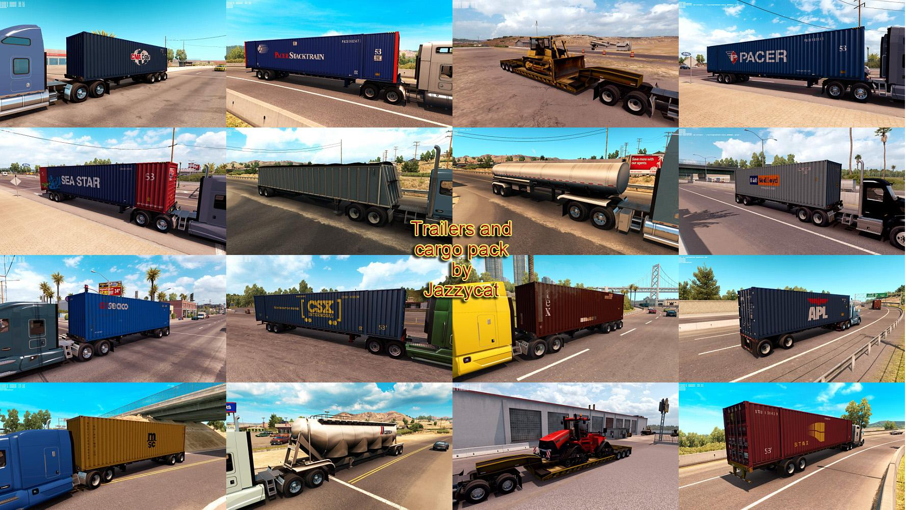 TRAILERS AND CARGO PACK BY JAZZYCAT V1 4 ATS TRAILERS PACK