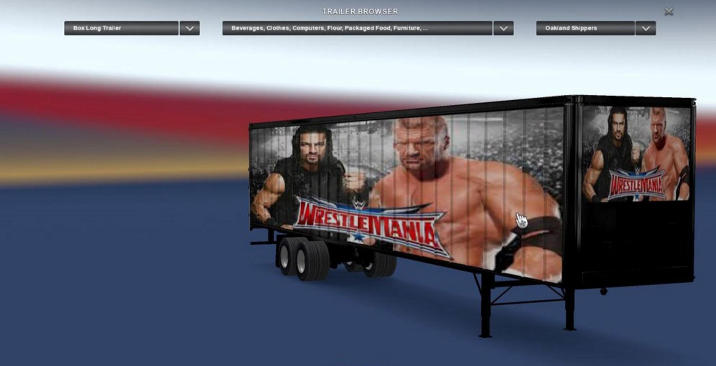 WWE Wrestle Mania Immortals Trailer Mod - ATS Mod   American