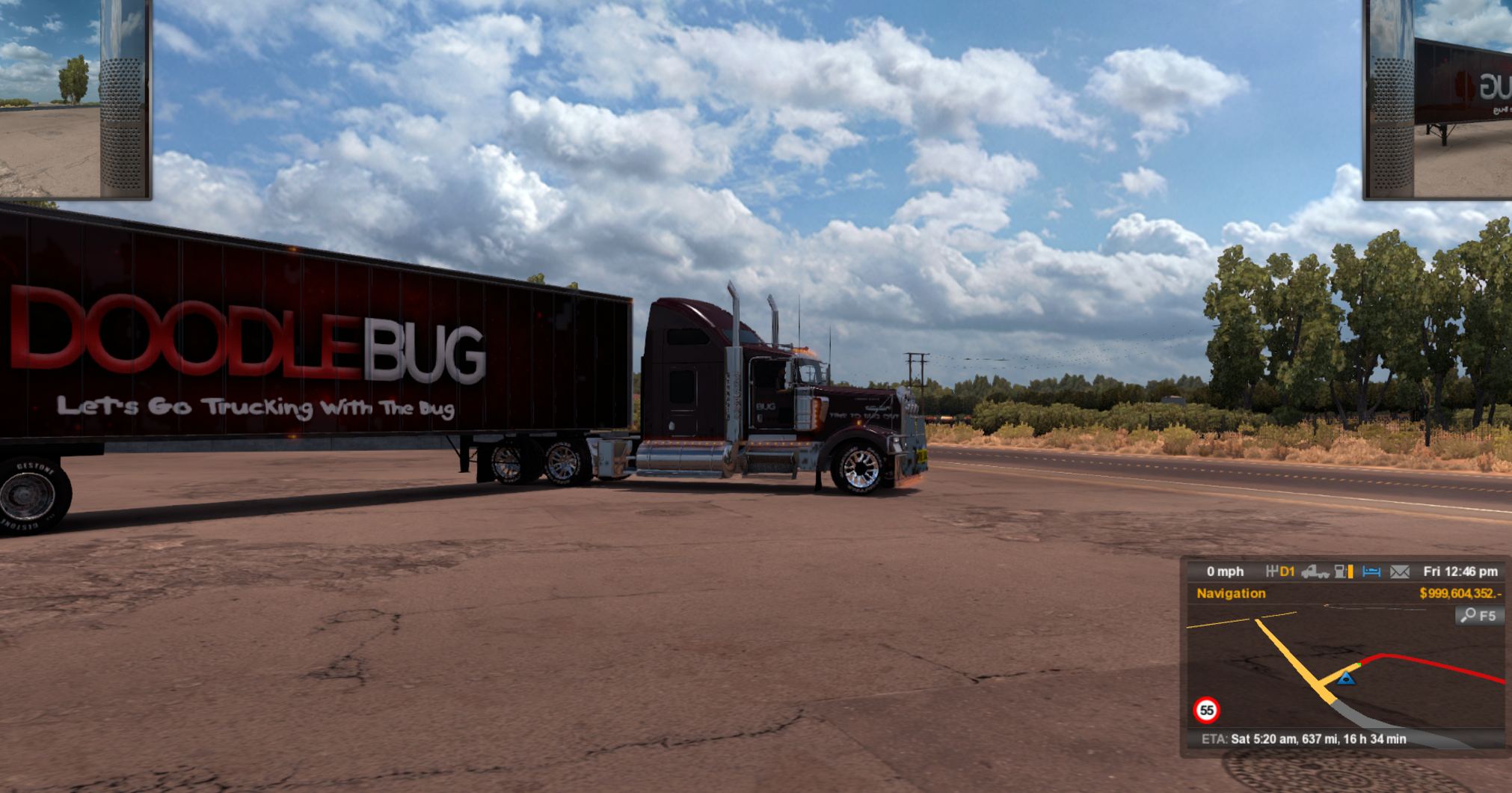 Youtube Gamer Doodle bug Trailer - ATS Mod | American Truck