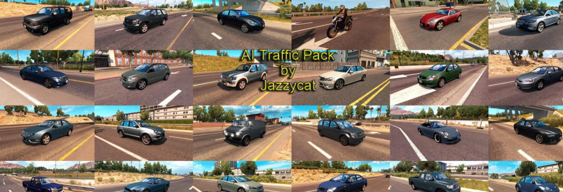 AI Traffic Pack by Jazzycat v1 8 Mod - ATS Mod | American