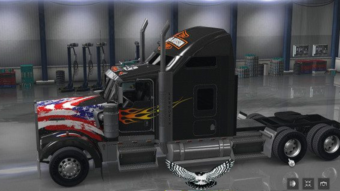 harley davidson update ats ats mod american truck. Black Bedroom Furniture Sets. Home Design Ideas