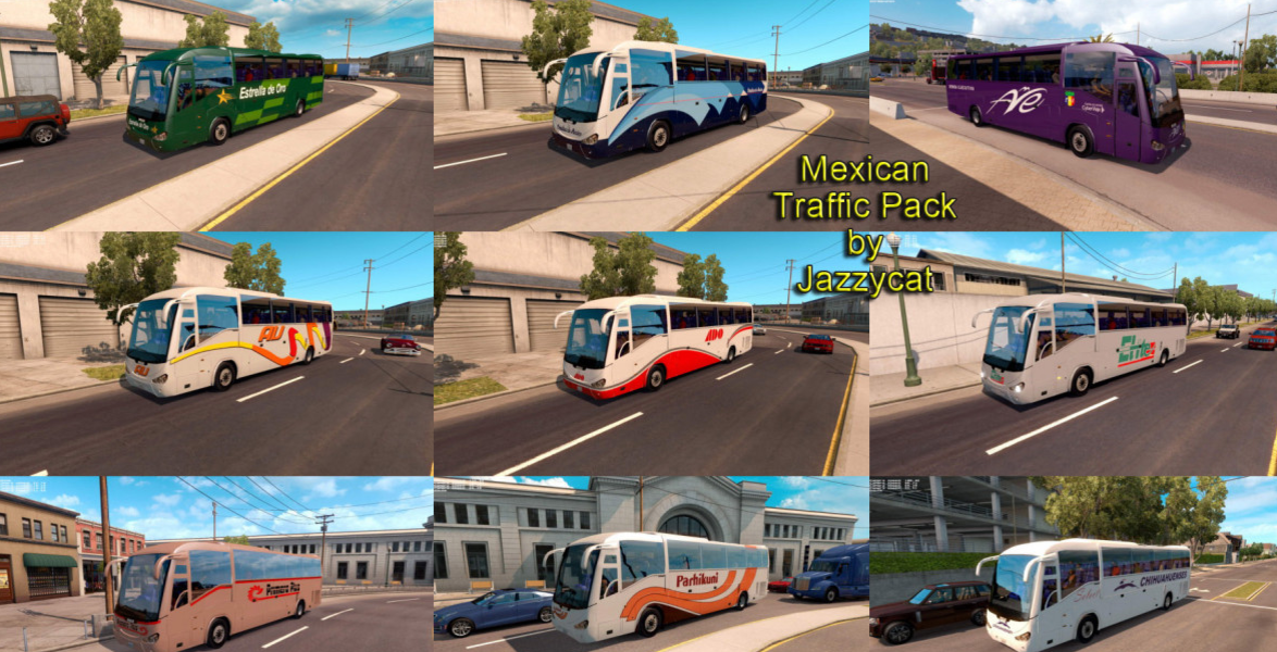 Mexican Traffic Pack by Jazzycat v1 1 ATS MOD - ATS Mod