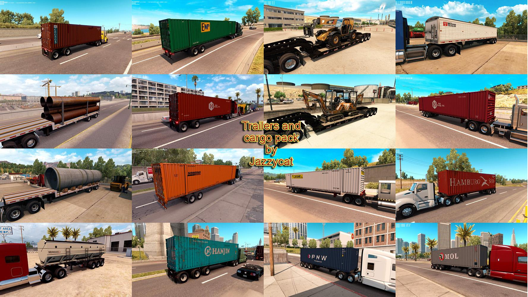 TRAILERS AND CARGO PACK BY JAZZYCAT V1 3 for ATS - ATS Mod