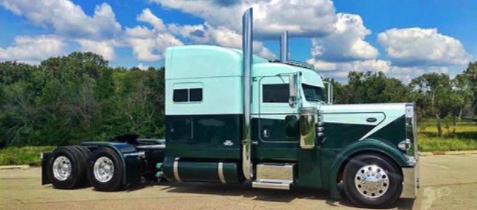Green Blue Peterbilt Truck Skin Mod Ats Mod American Truck Simulator Mod