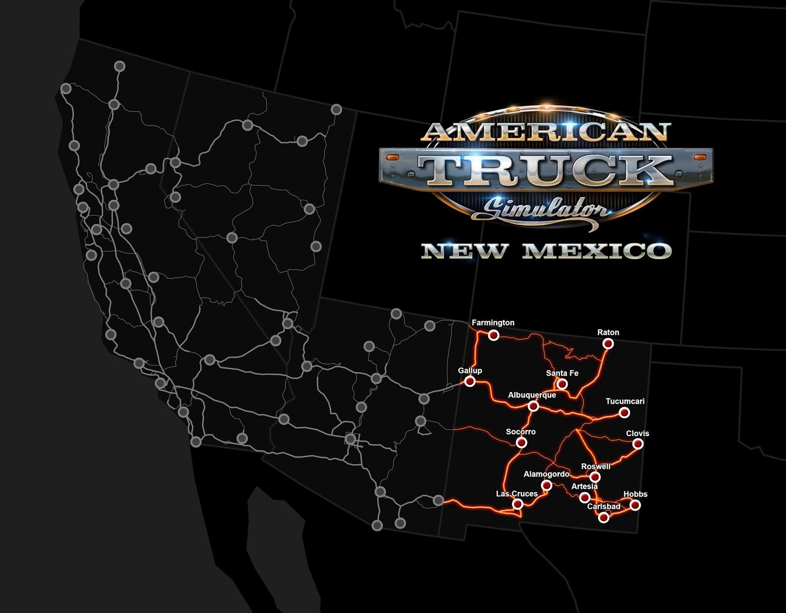 New Mexico DLC arrives alongside ATS update 1.29!   ATS Mod