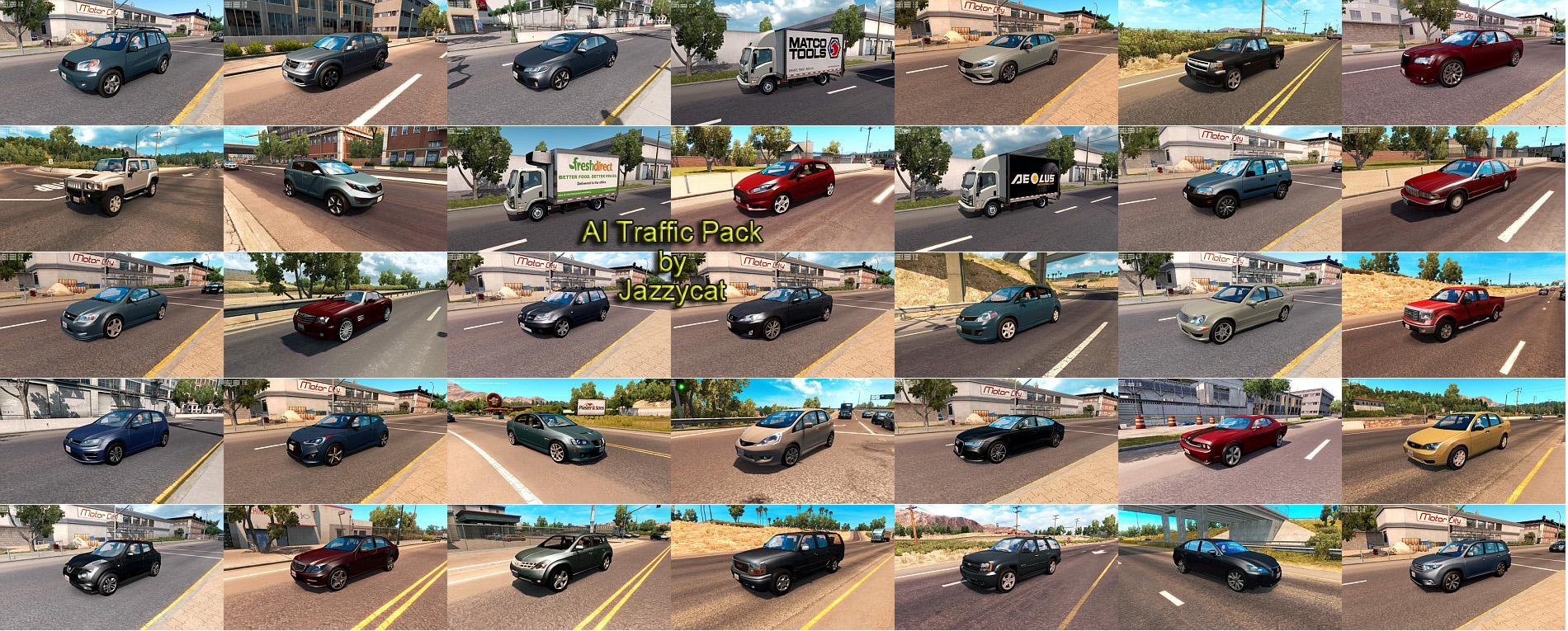 AI TRAFFIC PACK BY JAZZYCAT V3 8 for ATS - ATS Mod