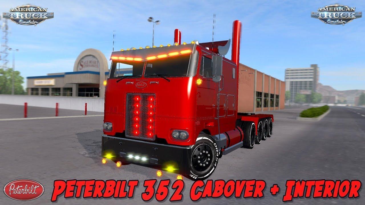 Peterbilt 352 Cabover Truck Interior 1 29 1 30 Ats Mod American Truck Simulator Mod