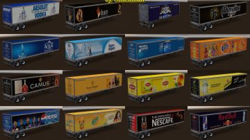 Trailer Pack Drinks v 2 0 for ATS - ATS Mod | American Truck