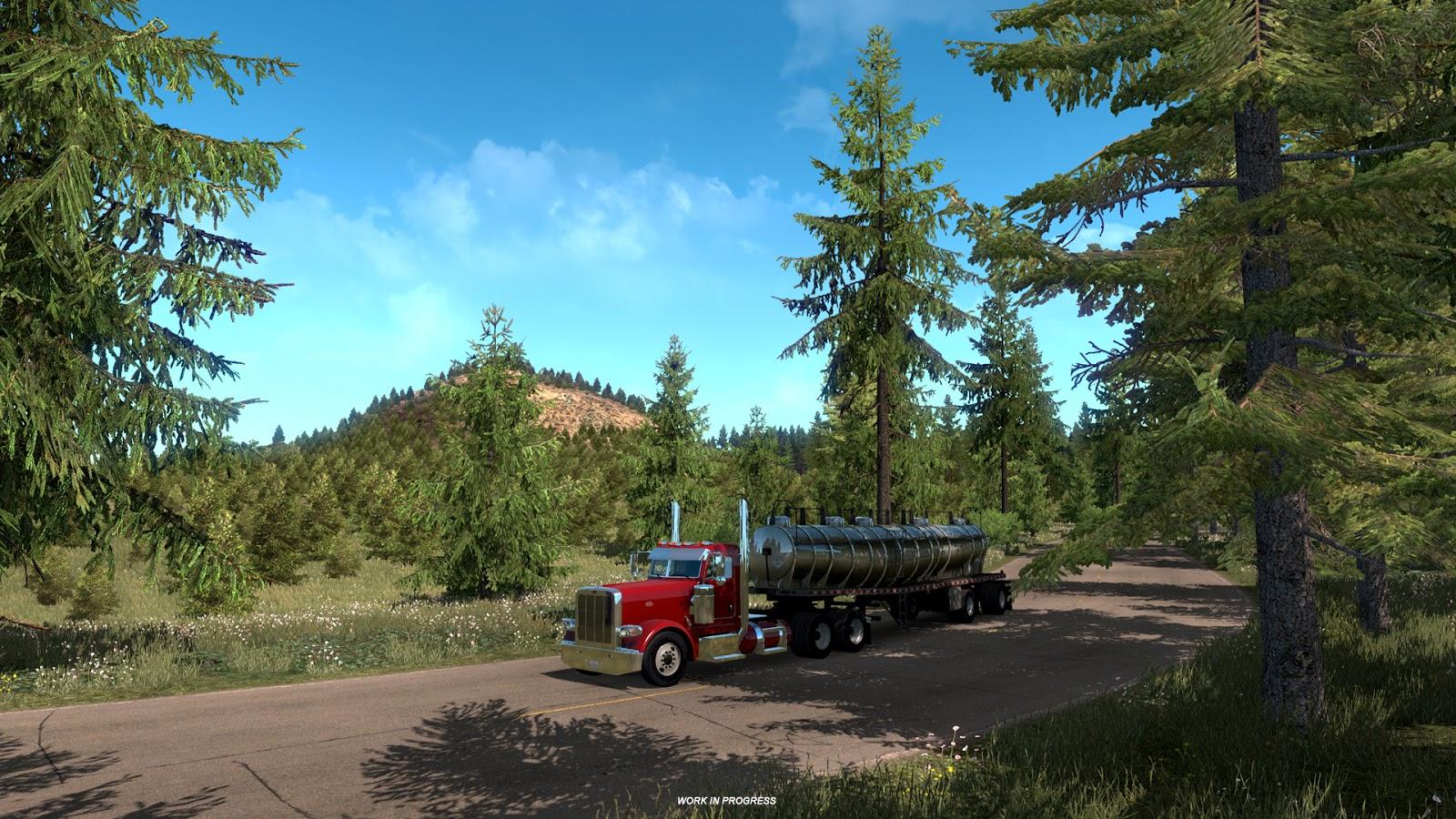 ats natural beauty of oregon ats mod american truck. Black Bedroom Furniture Sets. Home Design Ideas