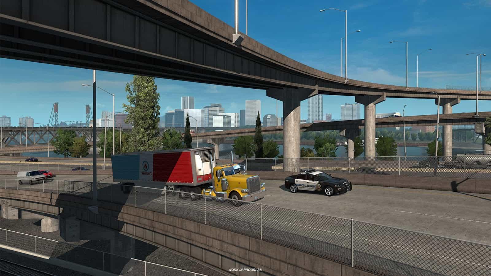 ats portland oregon ats mod american truck. Black Bedroom Furniture Sets. Home Design Ideas
