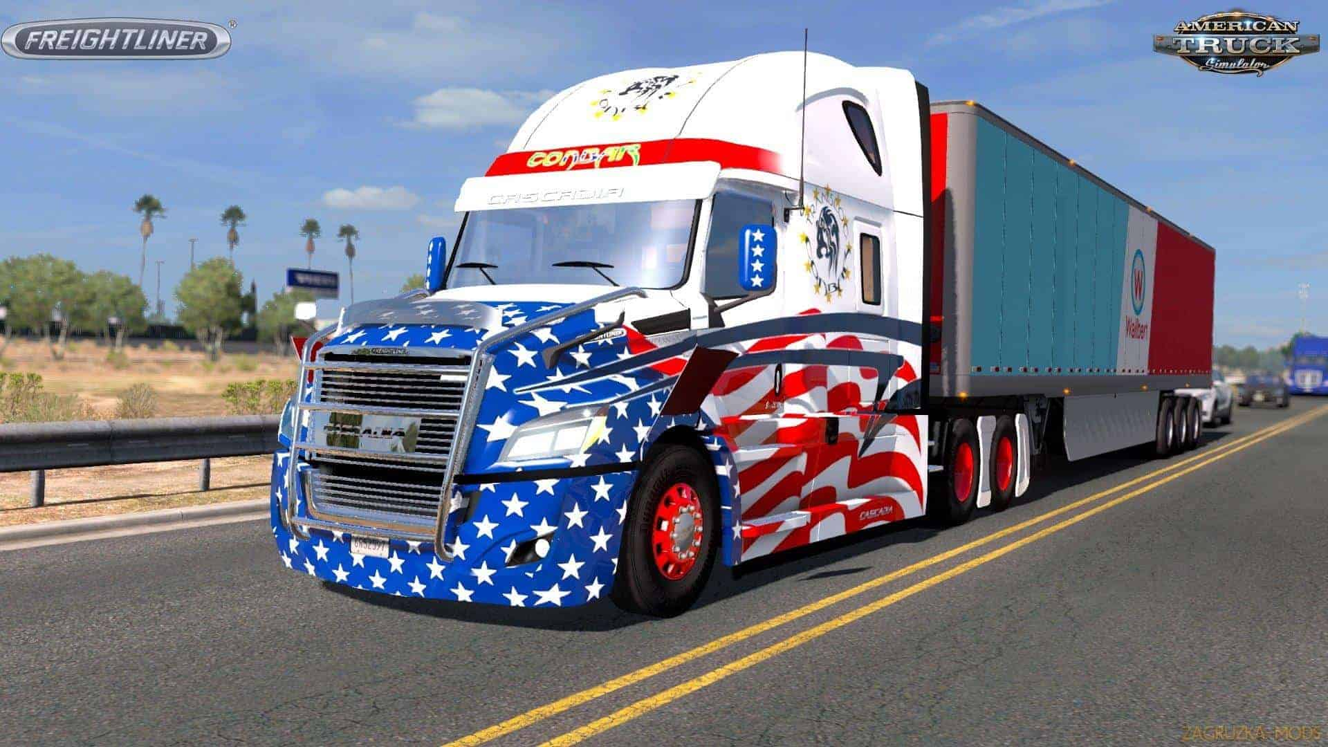 freightliner cascadia 2018 truck v1 4 1 ats mod. Black Bedroom Furniture Sets. Home Design Ideas