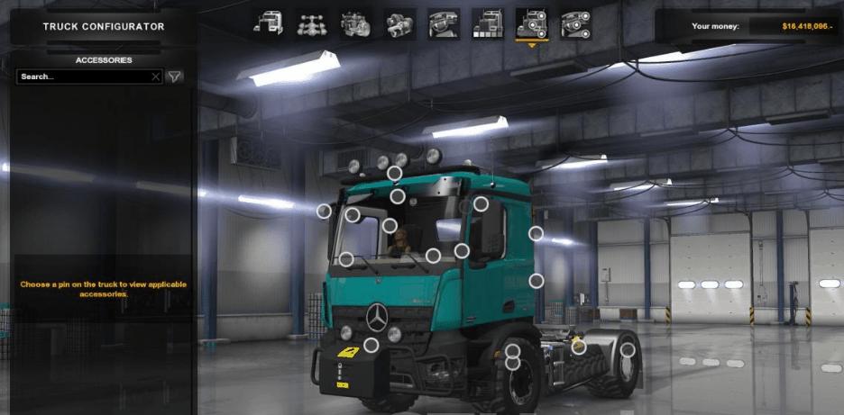 Mercedes-Benz Arocs Agrar Truck 1 0 - ATS Mod   American