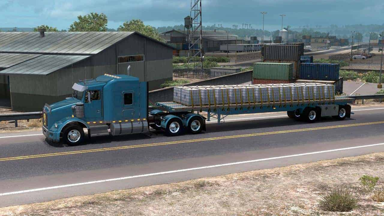 Great Dane Flatbed Ownable 1 33 x Trailer - ATS Mod | American Truck