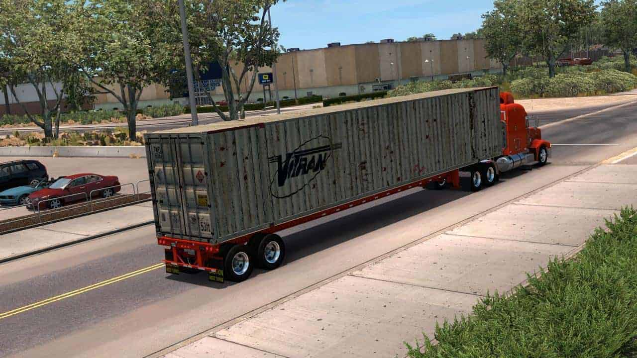 53-Foot Container Ownable 1 33 x Trailer - ATS Mod | American Truck