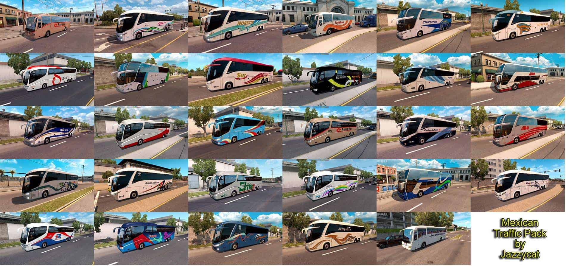 Mexican Traffic Pack by Jazzycat v1 9 Mod - ATS Mod