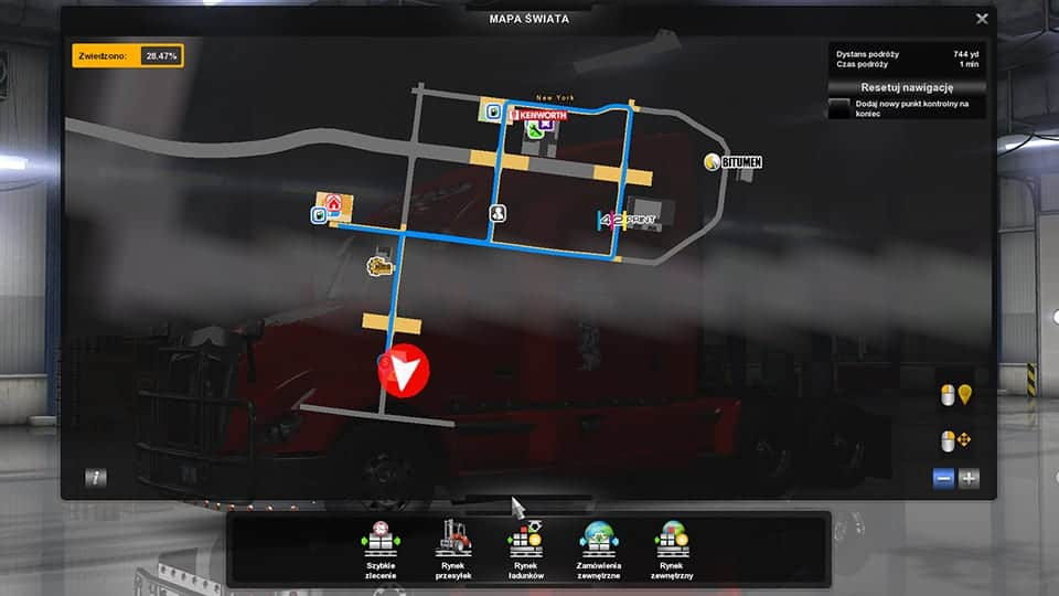 GPS RG ATS PRO 1,01 LED COAST TO COAST MOD - ATS Mod | American