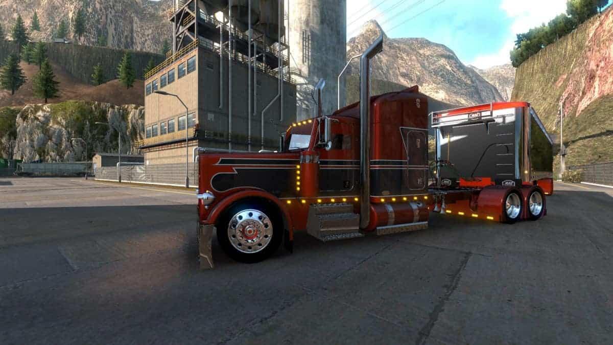 Outlaw Peterbilt 379 Truck 1 38 Mod Ats Mod American Truck Simulator Mod